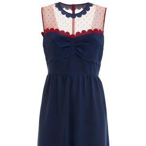 RED VALENTINO MR0VA4N8 Sleeveless Silk Dress Blue